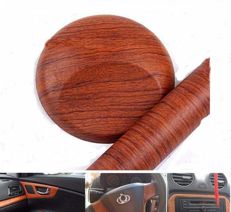 12 x48 1ft x 4ft brown wood textured grain car interior vinyl wrap film sticker ebay. Black Bedroom Furniture Sets. Home Design Ideas