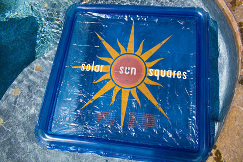 Solar Sun Square Water Heating Device For Aboveground