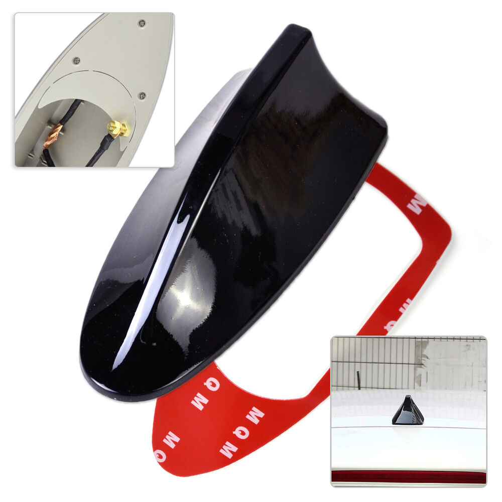 new universal auto car roof radio am fm signal shark fin. Black Bedroom Furniture Sets. Home Design Ideas