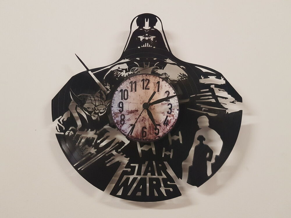 Star Wars Darth Vader Vinyl Record Clock Home Decor Gift