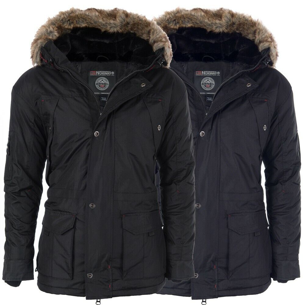 m424 geographical norway herren warme winterjacke gef tterte winter jacke parka ebay. Black Bedroom Furniture Sets. Home Design Ideas