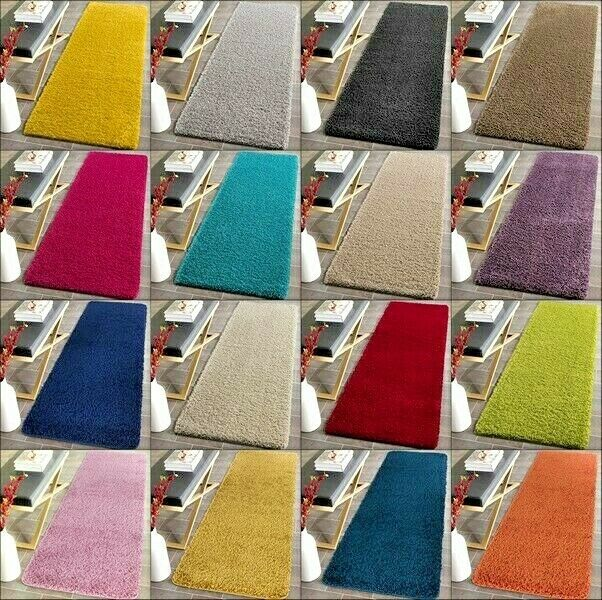 Large Washable Rugs Uk: NEW WASHABLE NON SLIP SHAGGY LIVING ROOM RUGS HALL RUNNER