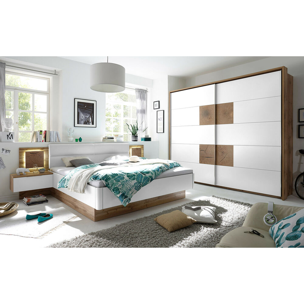schlafzimmer capri bett schrank nachtkommode wildeiche. Black Bedroom Furniture Sets. Home Design Ideas