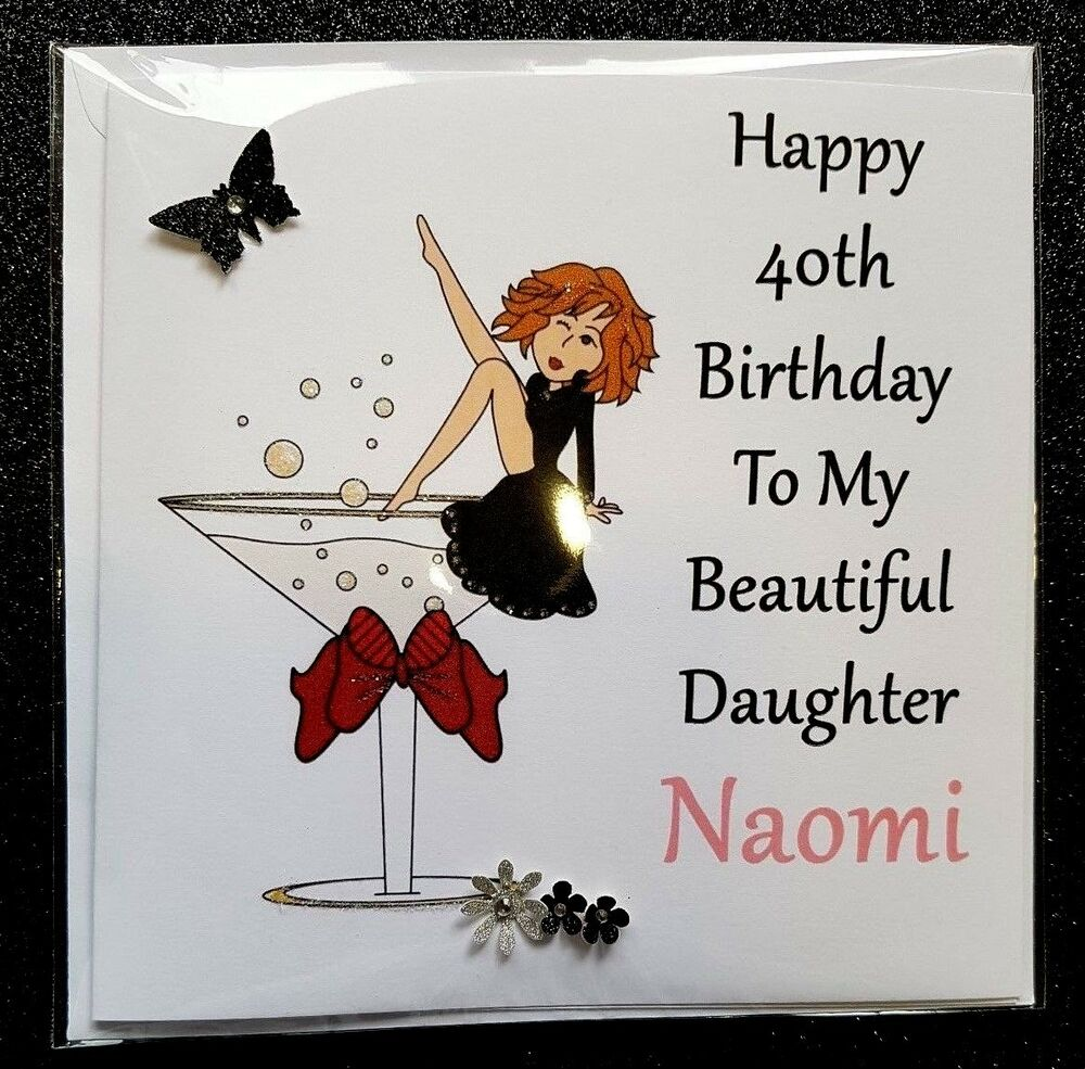 PERSONALISED HANDMADE BIRTHDAY CARD 40TH 21ST 30TH