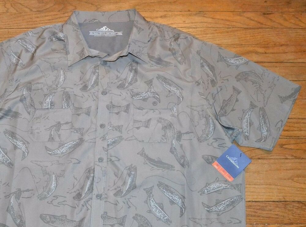 Fishing croft barrow quick dry shirt wrinkle free short for Best wrinkle free shirts