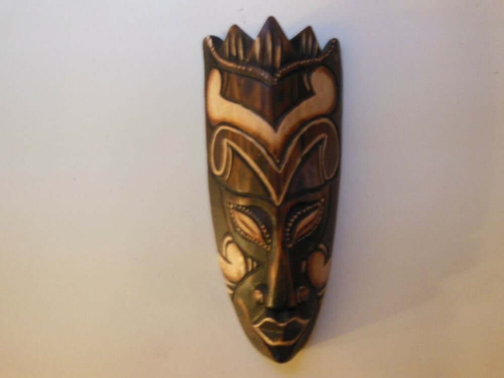 Wall Decor Made From Wood : Small mask balines carnival wooden handmade wall art home