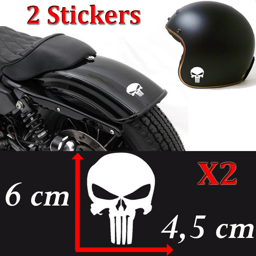 lot 2 stickers autocollant pirate skull punisher deco moto casque ipad voiture ebay. Black Bedroom Furniture Sets. Home Design Ideas
