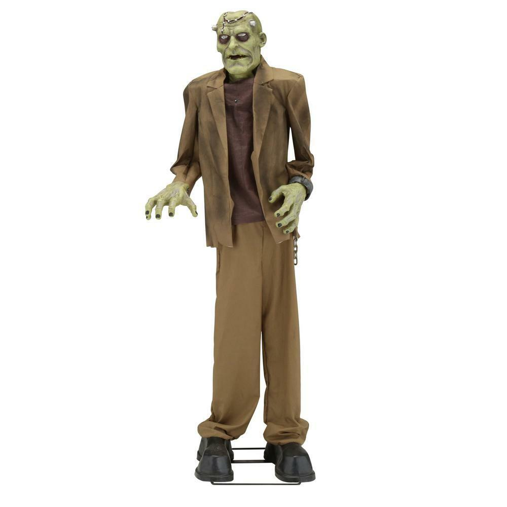 6 4 39 lab monster frankenstein animated halloween prop yard decoration sounds ebay. Black Bedroom Furniture Sets. Home Design Ideas