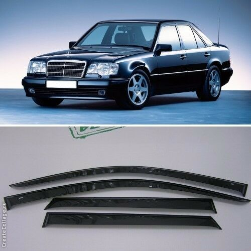 For mercedes benz e w124 84 95 window side visors sun rain for Mercedes benz shades