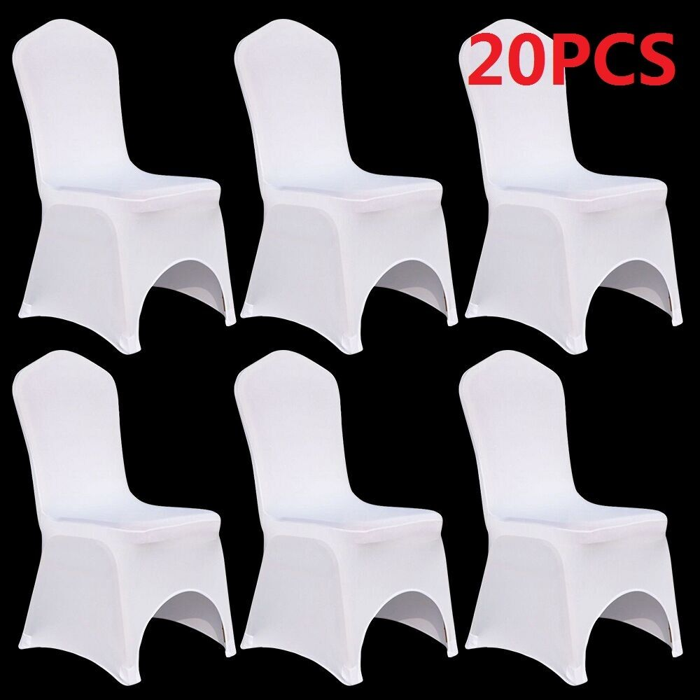 20 X White Spandex Stretch Folding Chair Covers Wedding