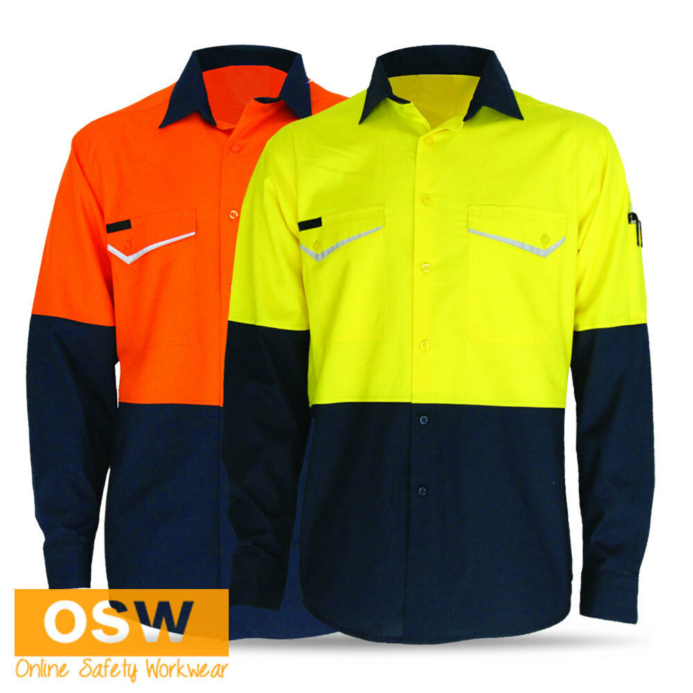 Hi Vis Soft Light Cool Vented Rip Stop Cotton Work Summer