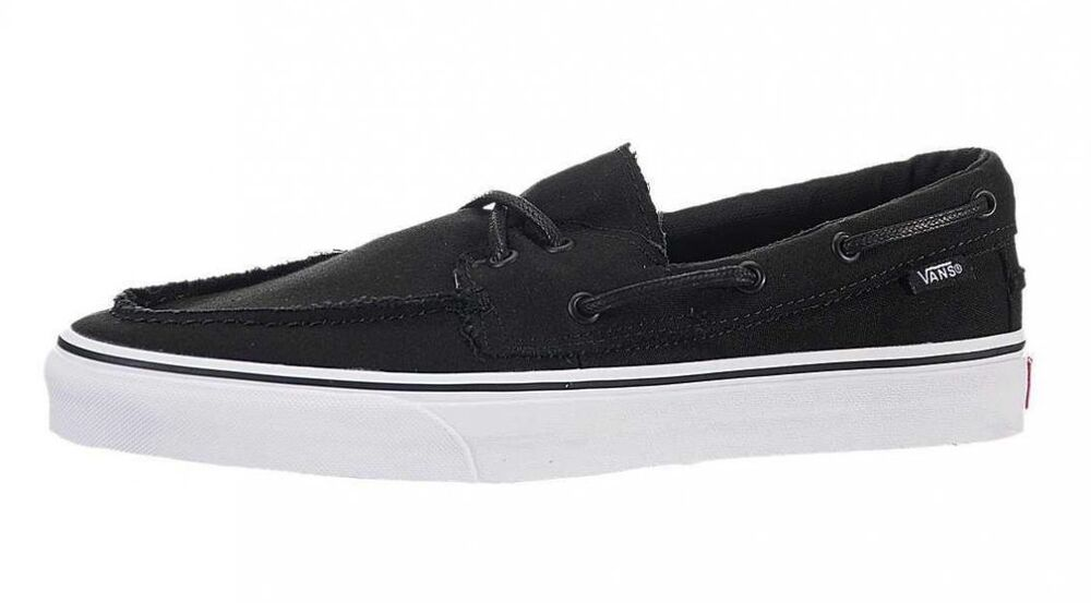 Vans ZAPATO DEL BARCO Black True White Discounted (270) Men s Boat Casual  Shoes  1bf0395eac66