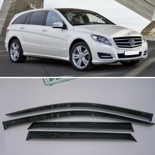 For mercedes r w251 2005 2017 window side visors sun rain for Mercedes benz sprinter sun visor