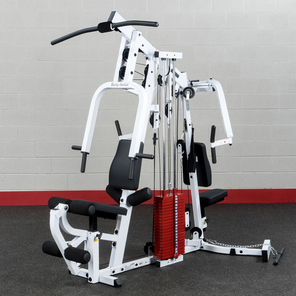 Body-Solid EXM2500S Home Gym With Premium Red Weight Stack
