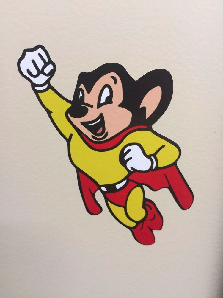 Mighty Mouse Flying Hero Vinyl Sticker Decal Graphic