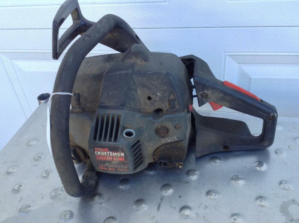 Old Craftsman Chainsaw Parts : Craftsman gas operated chainsaw model parts