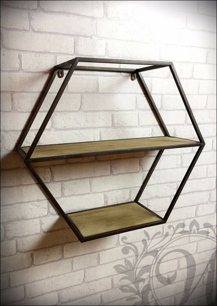 Retro Vintage Industrial Style Metal Shelf Storage Cabinet