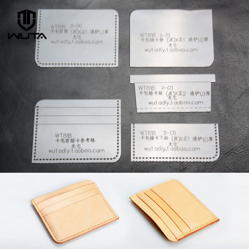 wuta card case leather template acrylic leather pattern diy craft tool wt818 ebay. Black Bedroom Furniture Sets. Home Design Ideas