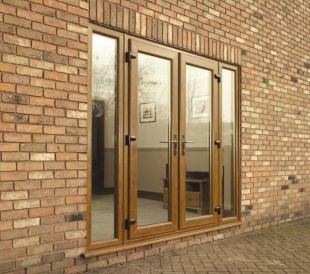 Light oak upvc french doors new made to measure ebay for Upvc french doors made to measure