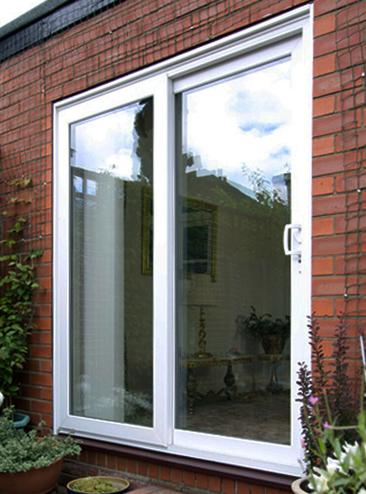 Upvc sliding patio doors white oak mahogany rosewood for White sliding patio doors