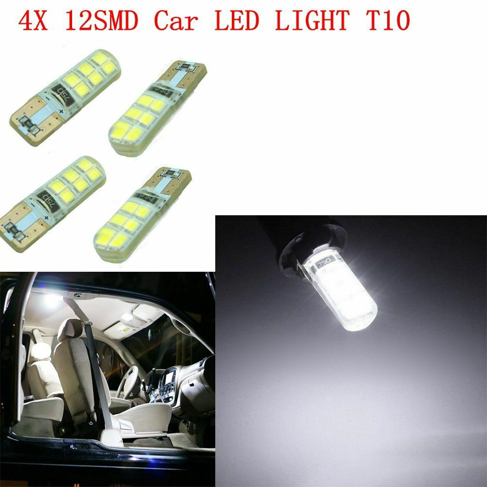 4x t10 12smd led lights 2835 6000k w5w 12v canbus car. Black Bedroom Furniture Sets. Home Design Ideas