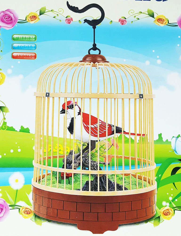 Electronic, Battery & Wind-up Toys & Hobbies Electronic Bird In Cage Lovely Sound Activated Heartful Bird Xmas Gift Kid Toy
