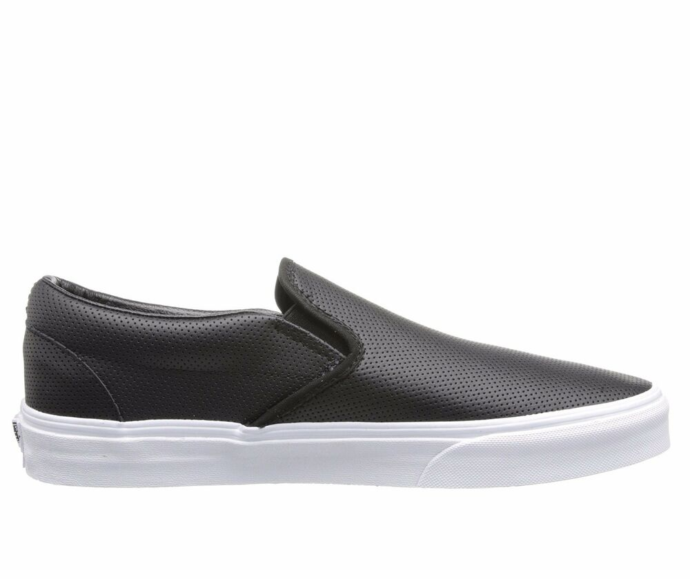 Perforated Leather Slip On Shoes