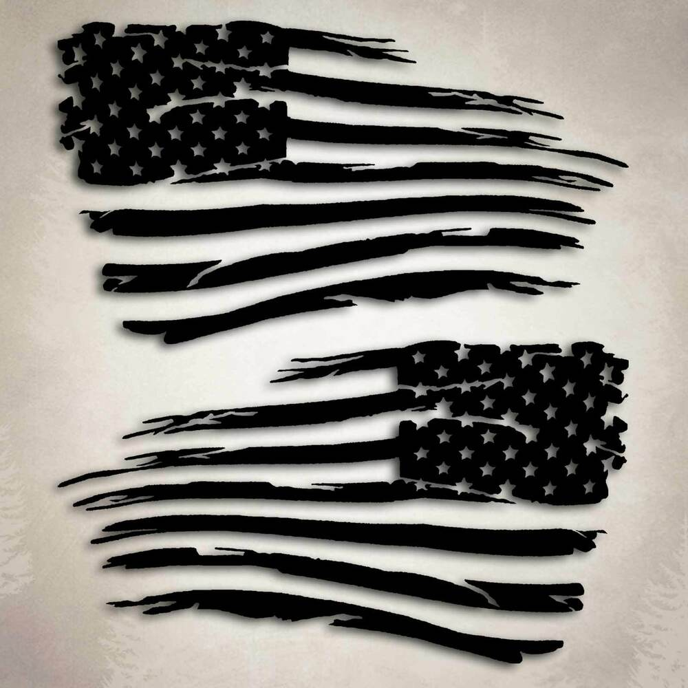 American Flag Distressed Military Decal Sticker Compatible