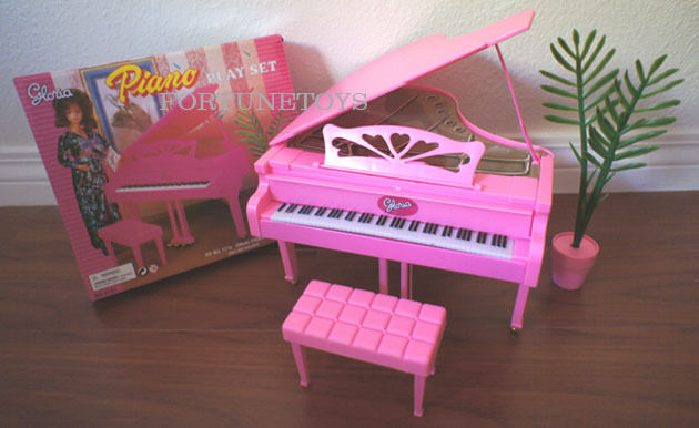 Gloria Doll House Furniture Sz Piano W Chair Amp Plant Play