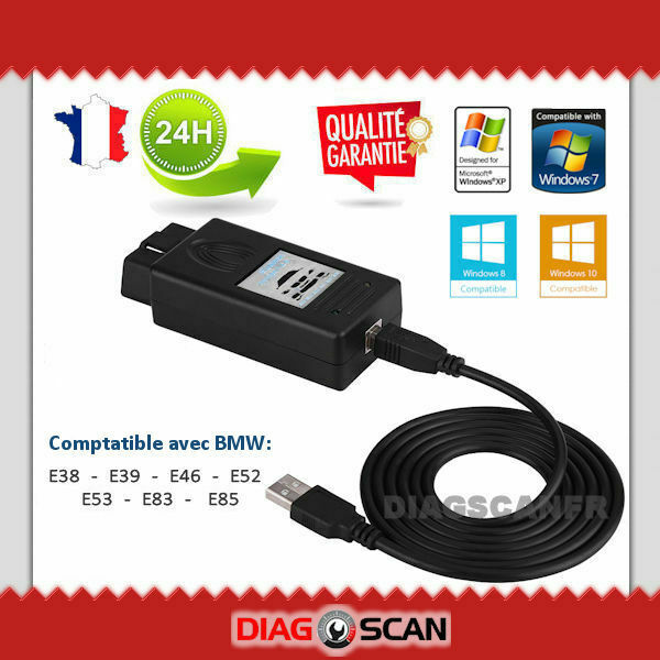 Interface de diagnostic & programmation BMW SCANNER v1.4.0 OBD2 USB