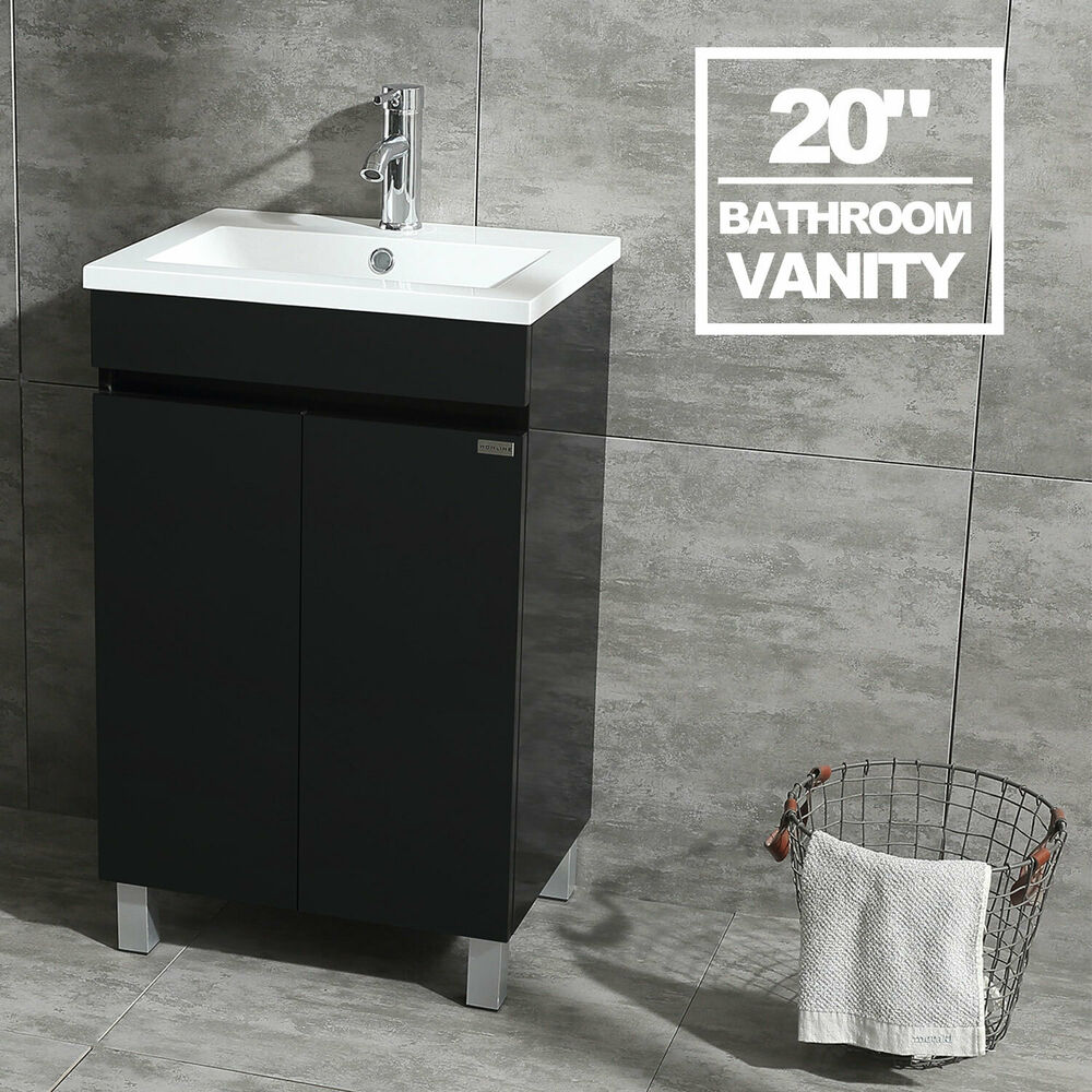 Black Bathroom Vanity Cabinet Wood Set With Undermount Resin Vessel Sink Combo Ebay