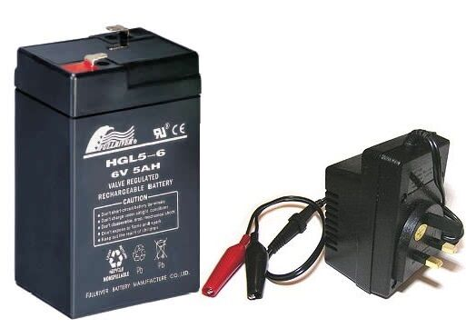 toy car battery and charger combo 6v battery 6 volt mains charger ebay. Black Bedroom Furniture Sets. Home Design Ideas