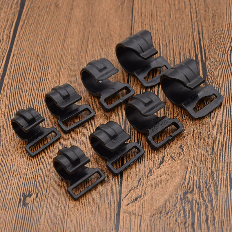 10 Pcs Black Plastic Camping Awning Tent Clips Accessories