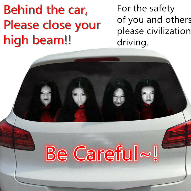 Window Car Body Decal Sticker Female Ghost Zombie Horror