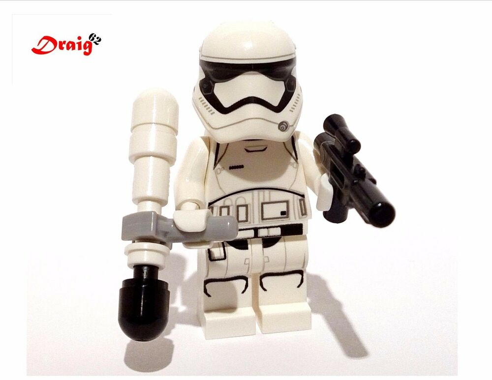 lego star wars first order stormtrooper with baton new from 75139 ebay. Black Bedroom Furniture Sets. Home Design Ideas