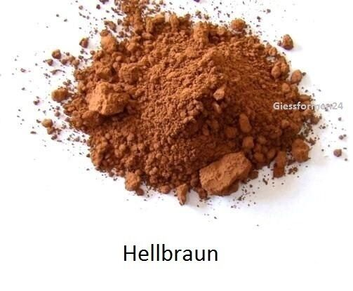 oxidfarbe pigment 1kg oxidpigment f r betonmasse putz gips farbe hellbraun ebay. Black Bedroom Furniture Sets. Home Design Ideas
