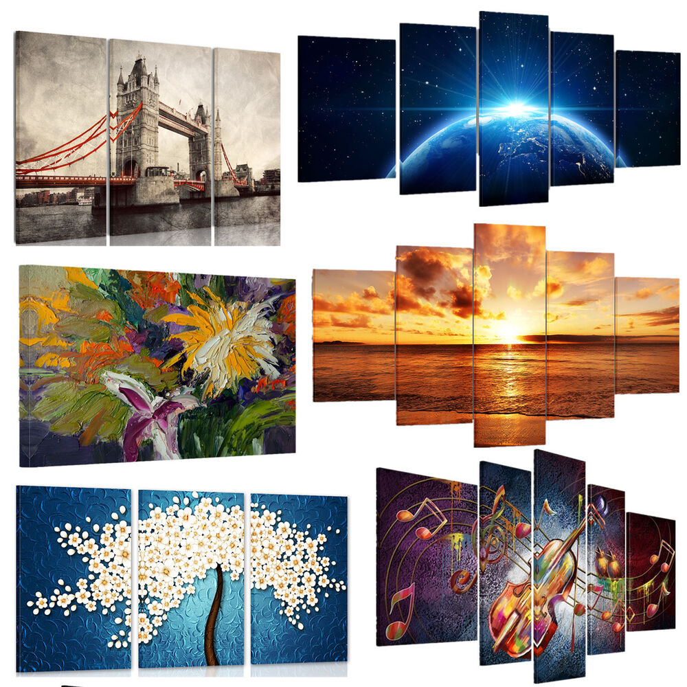 Wall Art Canvas Ready To Hang : Us modern large picture hd canvas prints wall art painting