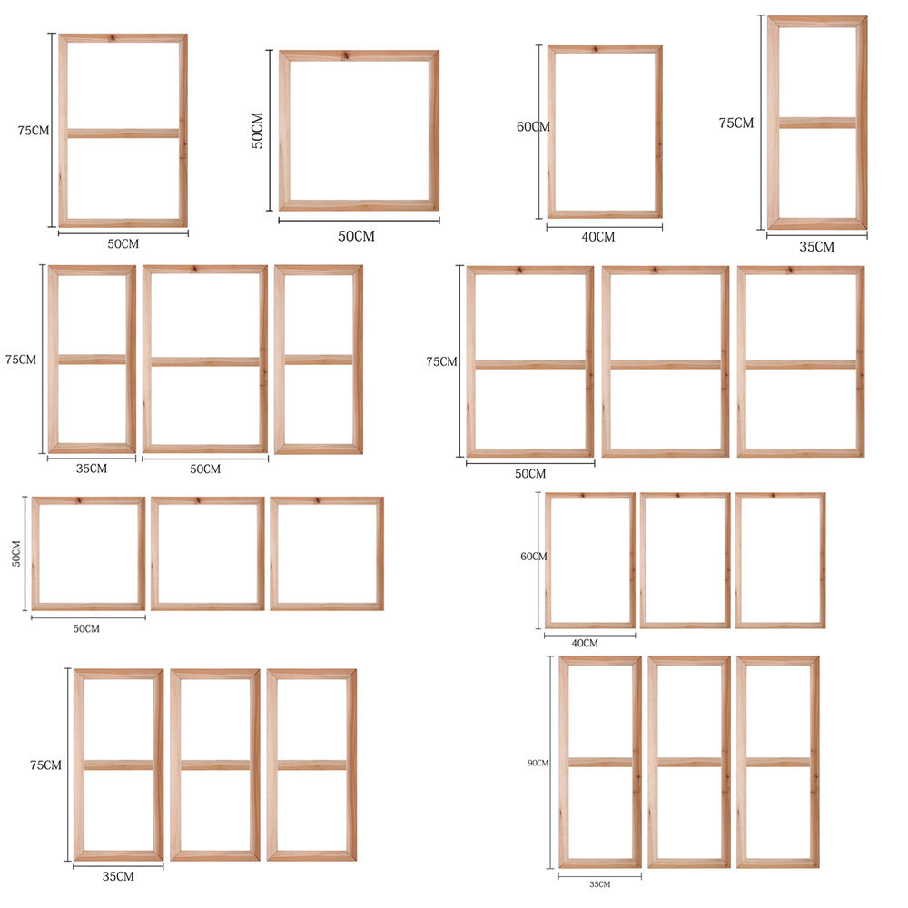 canvas stretcher bars frames wood frames for canvas wall art paintings poster ebay. Black Bedroom Furniture Sets. Home Design Ideas