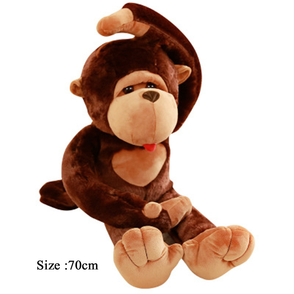 large size funny stuffed animal soft plush brown monkey plush toy 70cm 733520156321 ebay. Black Bedroom Furniture Sets. Home Design Ideas