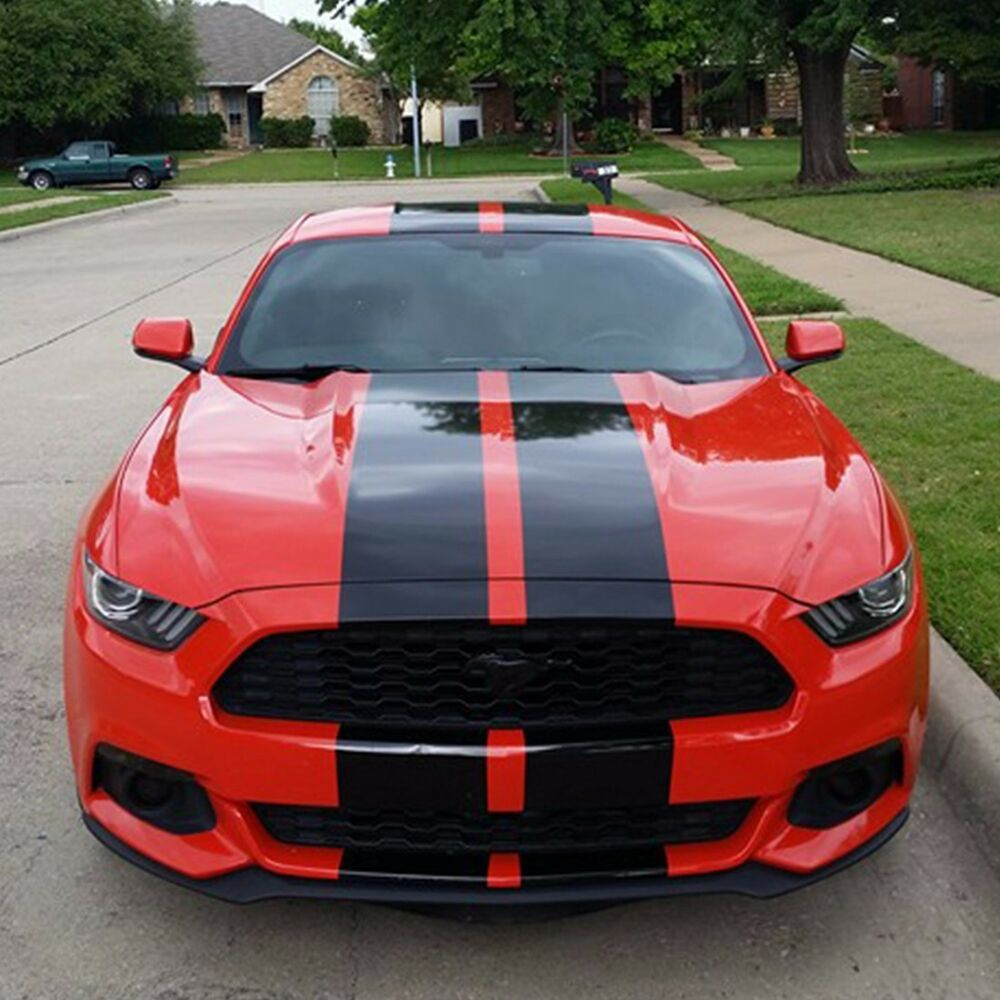 Decal Sticker Stripe Body Kit For Ford Mustang Gt Led