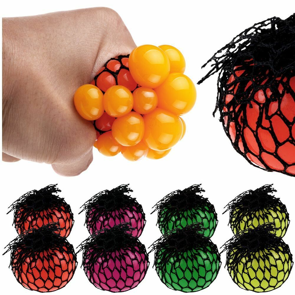 Sensory Toys For Adults : Adult fidget stress relief squishy mesh ball grape fruity