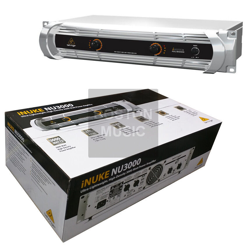 behringer nu3000 inuke ultra lightweight high density 3000 watt power amplifier ebay. Black Bedroom Furniture Sets. Home Design Ideas