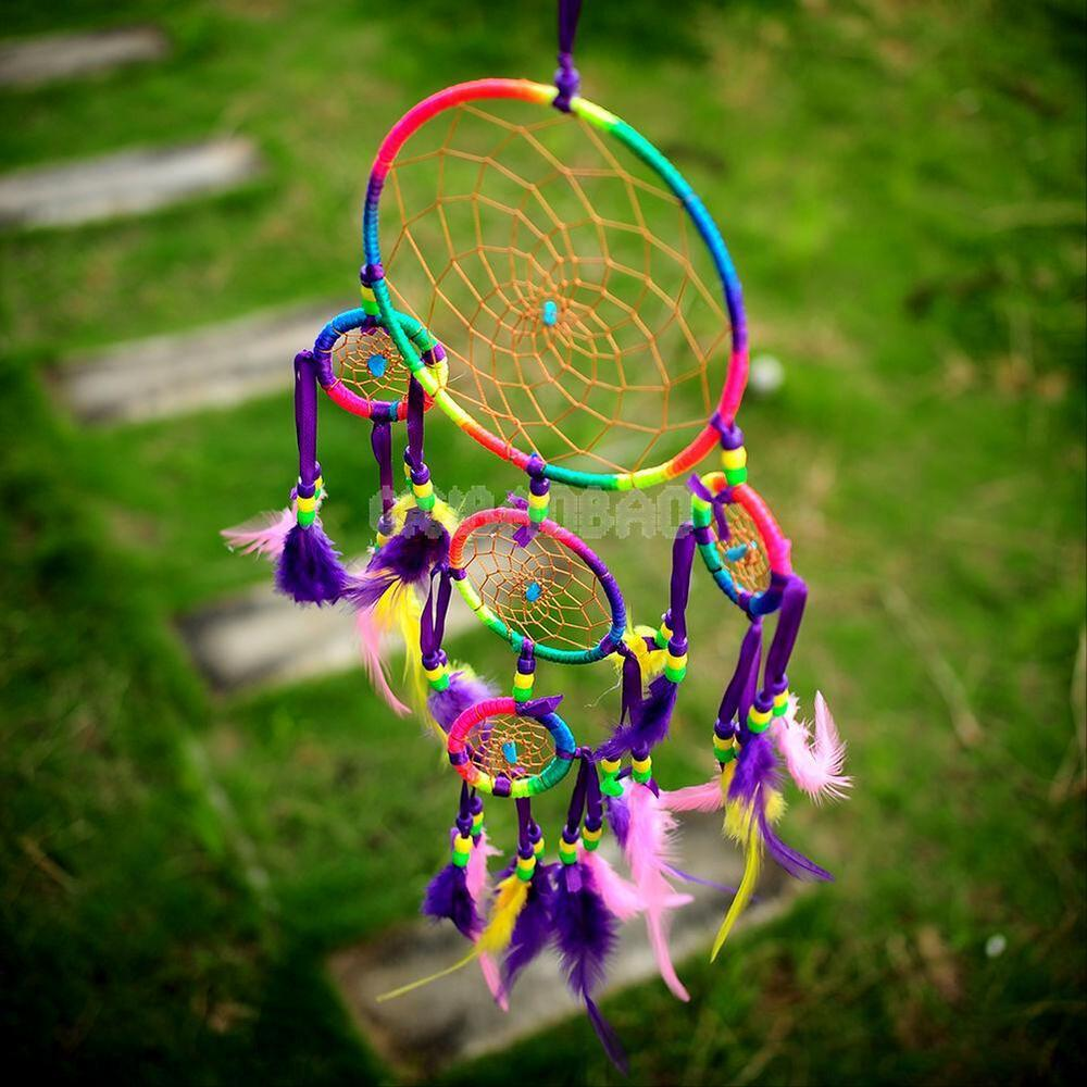 Colorful dream catcher with feathers wall hanging for Art for decoration and ornamentation