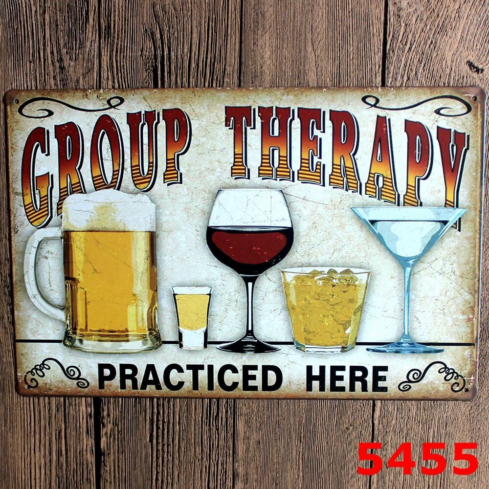 Vintage metal beer wine tin signs wall plaque poster bar