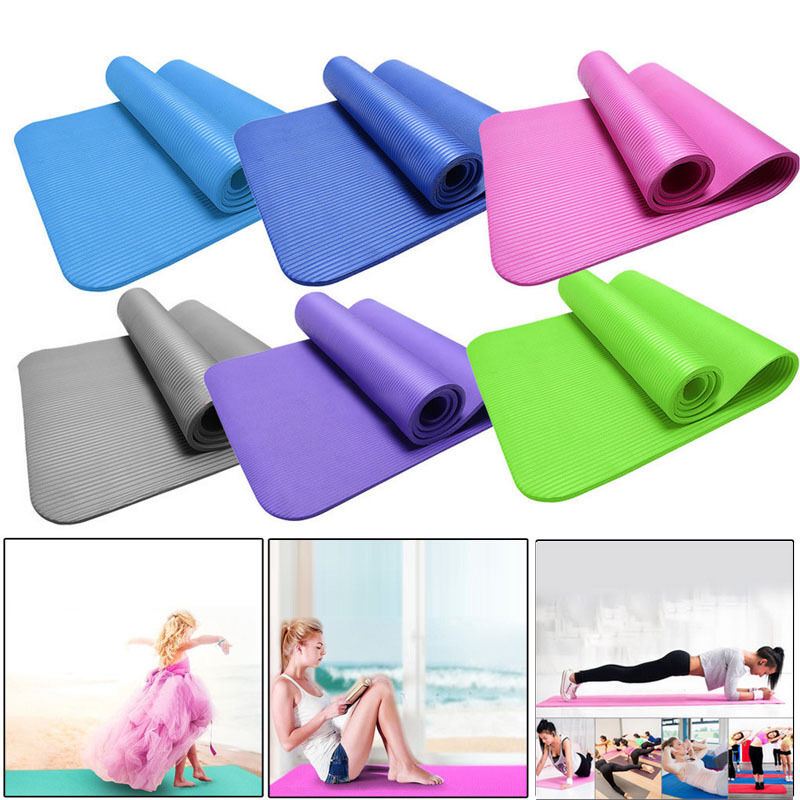 15mm Thick Durable Yoga Mat Non-slip Exercise Fitness Pad