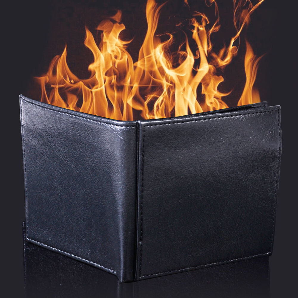 Magic Trick Flame Fire Wallet Leather Magician Stage