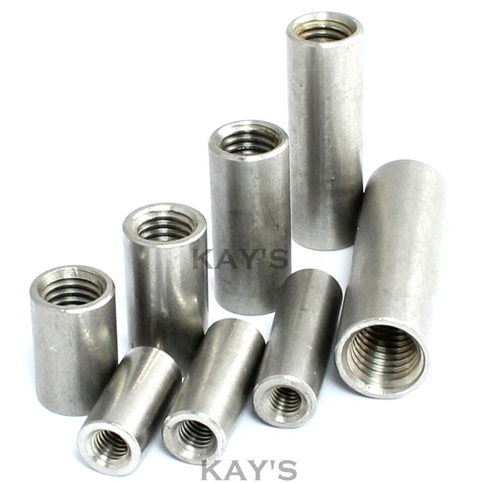 Round Studding Connector Nuts A2 Stainless Steel All