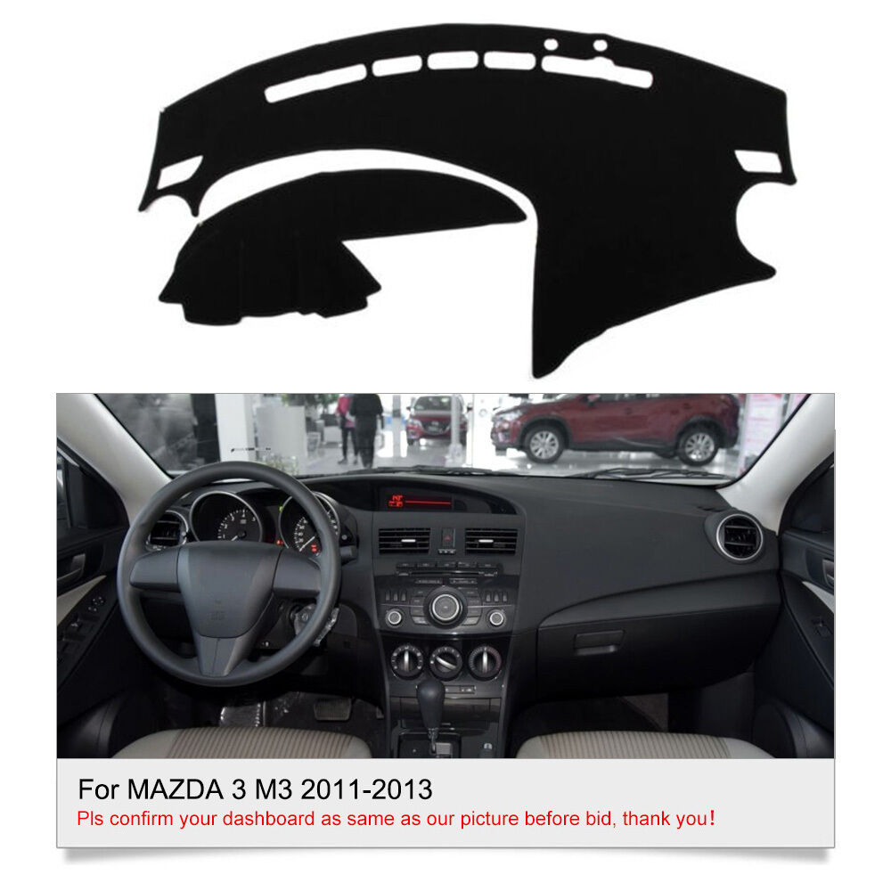 For Mazda 3 M3 2010 2013 Dashmat Dashboard Mat Bk Sun Cover Fly5d Car Interior Ebay