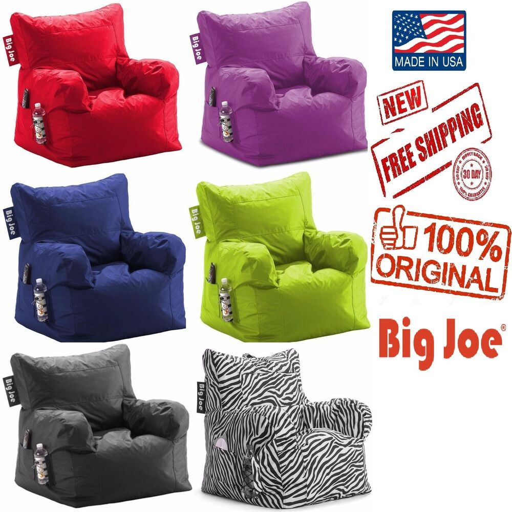 Bean bag chair big joe dorm kids seat furniture teen tv for Kids tv chair