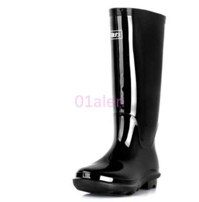 mens knee high waterproof rubber boot shoes 2017